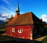 Autumn country church