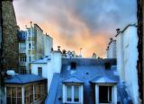 Paris wears a blue night gown
