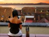 The sunset girl...