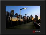 Morning Light on a Footbridge