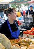 Woman Sells Melons