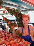 Peach Farmer Posing
