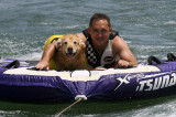 max (6 yrs) with ronnie at lake lanier