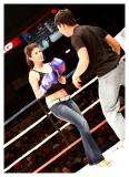 The idea is to invite women from the audience and give them a chance to knock out a URCC fighter