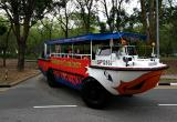 The Amphibious tourist vehicle. This 'Duck' will take you on a 1hr land and sea tour for 33 dollars