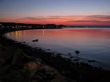 fin de jour dans la baie de Saint-Anne-des-Monts