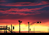 soleil couchant à Rimouski
