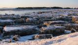 bord de fleuve gelé à Notre-Dame du Portage
