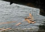 poutres flottantes, la marée monte