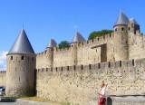 les impressionnantes murailles de Carcassonne