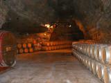 le vin dans la carrière de gypse
