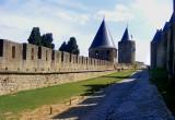 le chemin de ronde à Carcassonne