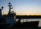 aurore au port