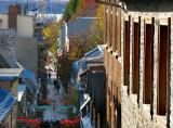rue du Petit Champlain depuis l'escalier casse-cou