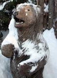 l'ours scuplté