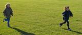 la course sur l'herbe