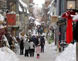 Rue du Petit Champlain en hiver