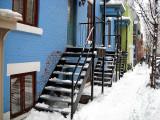 Les escaliers de la maison bleue