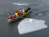 la rame sur la glace