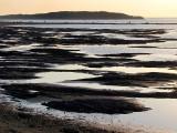 sur le sentier du littoral à marée basse