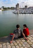 le couple au bord du quai