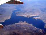 Lake Mead under the wing