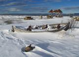 la barque abandonnée à l'hiver / Lost in snow