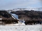 La côte des Éboulements, seul accès en hiver