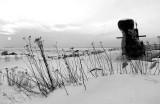 Un sous-marin en noir et blanc