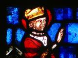 détail de vitrail, Reims, Saint-Rémi