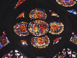 détail de vitrail cathédrale de Strasbourg