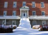 escalier enneigé ,Charlesbourg