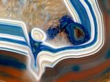 agate bleue, blanche, brune
