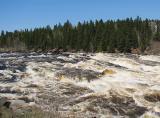 La rivière Petite Décharge en furie