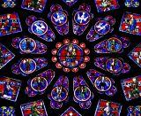 Chartres , partie centrale d'une rosace