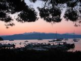 La rade de Porto Venere au lever du soleil