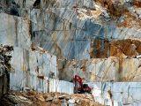Carrare, la carrière de marbre