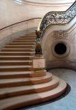 L'escalier central à Chantilly