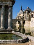 Chantilly,  l'entrée du château
