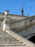Chantilly,  l'escalier et la chapelle