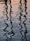 reflet des mâts du port