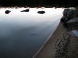 la plage au matin