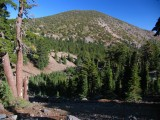 Trail up to Magee Peak, Crater Peak in distance