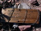 Trail Sign on Magee Peak Ridgeline