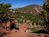 Crater Peak and red rocks