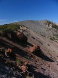 Red rocks along ridgeline