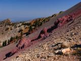 Big Red Rocks on Gray Cliff