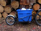 Bob Yak Trailer and recycle plastic day