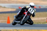 My bro on his single thumper Honda Ascot race bike - Willow Springs Raceway