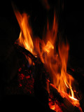 Warm fire on a cold nite in the Trinity Alps